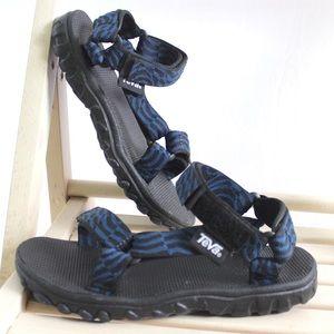 Teva Original Universal Sandal Blue Black Sz 5 M
